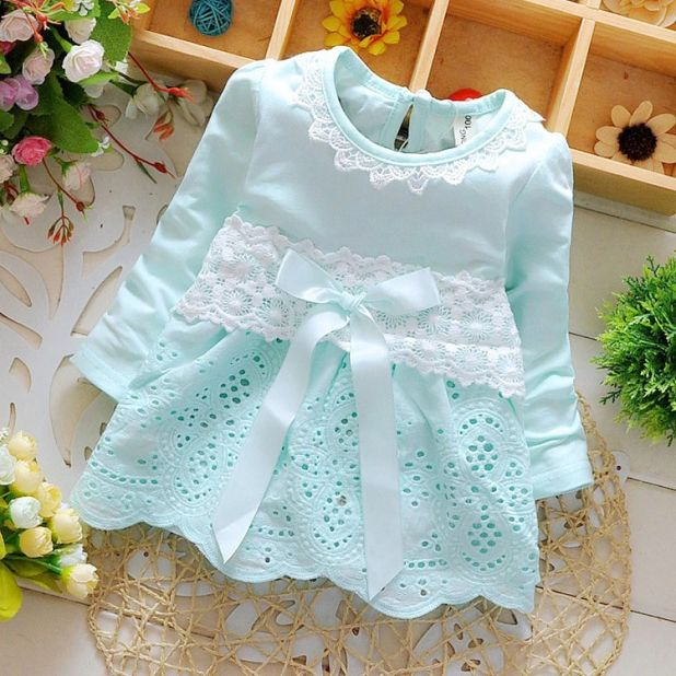 Openwork Dress With Lace